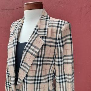 Vintage Schoolboy Tartan Plaid Blazer Rare Fall